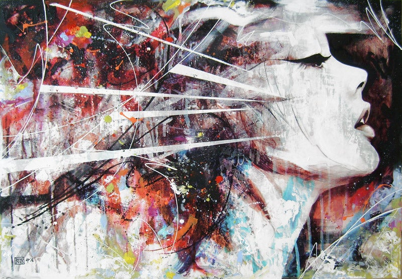"""Image of """"Retracing Steps"""" 34x24"""" Hand Embellished Limited Edition Print SOLD OUT"""