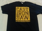 Image of Cast Iron Jaw yellow stamp T shirt