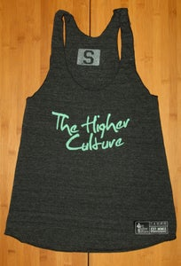 Image of Women's Signature Dark Grey & Seafoam tank