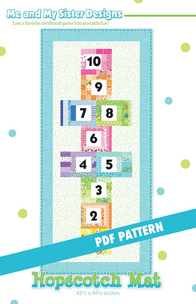 Hopscotch Mat Pdf Pattern Me And My Sister Designs