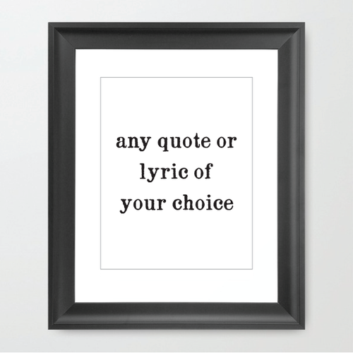 Image of Custom Framed Lyric or Quote