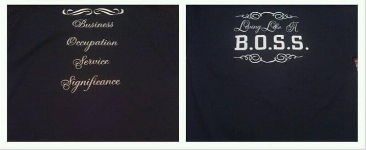 Image of Living Like A B.O.S.S. Tshirt - Black
