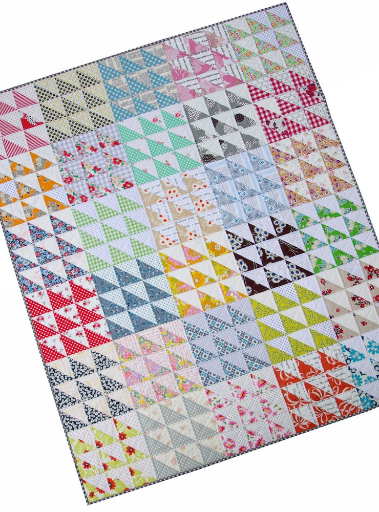 Image of Retro HST Quilt Pattern (PDF File)