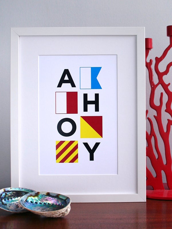 Image of AHOY art print