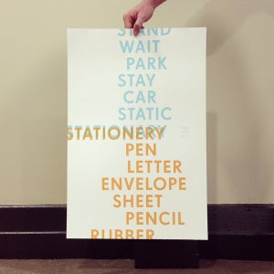 Image of STATION(A/E)RY, poster