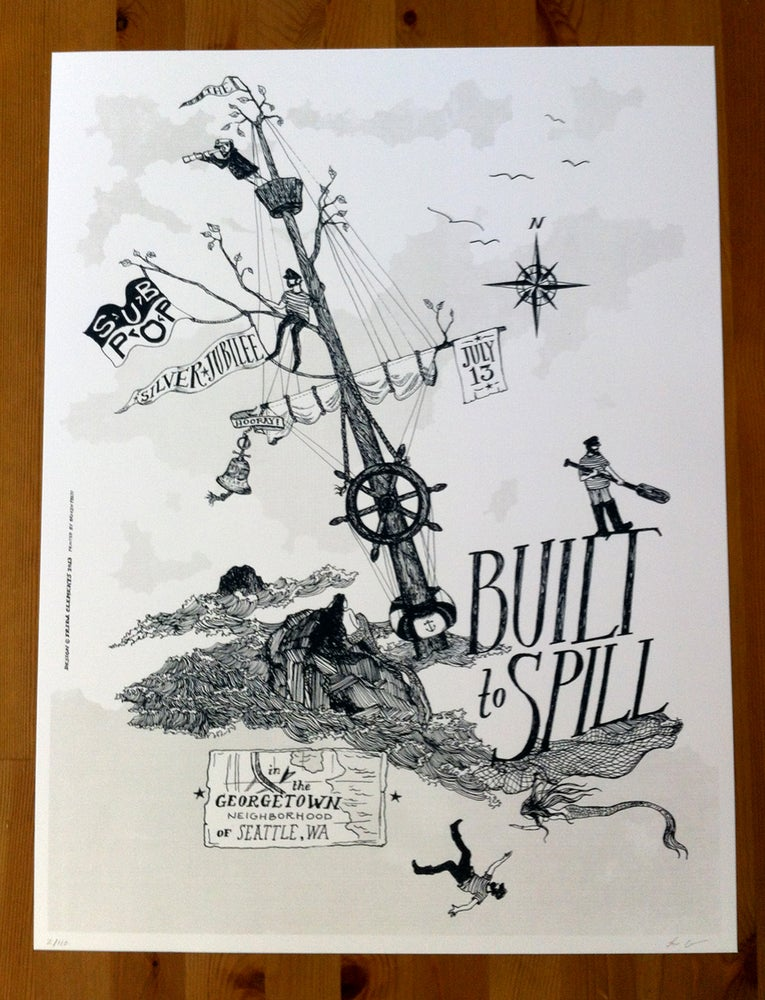 Image of Built To Spill for The Sub Pop Silver Jubilee