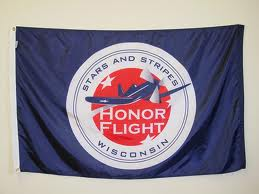 Image of 3' by 5' - Stars and Stripes Honor Flight Flags