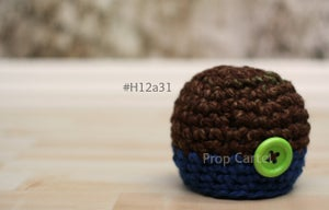 Image of Boy Beanie Buttonned #H12a31