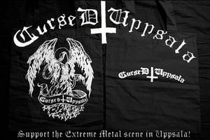 Image of Cursed Uppsala tote bag Angel design.