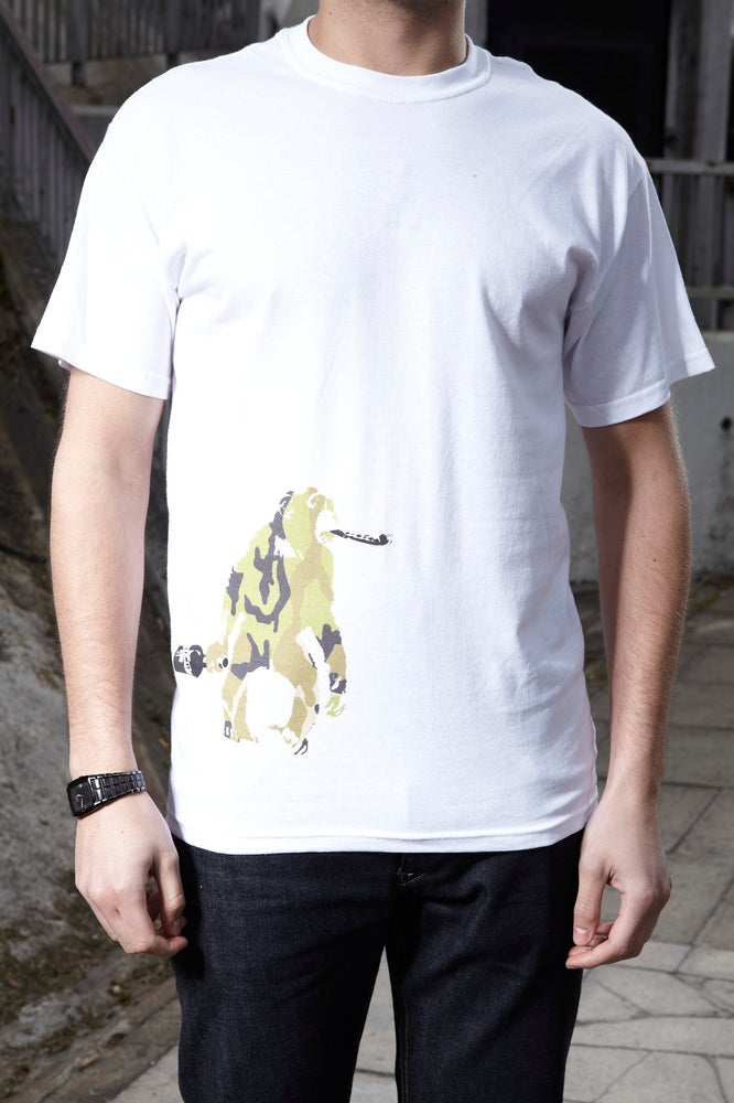 Image of Drunken Monkey - white t shirt