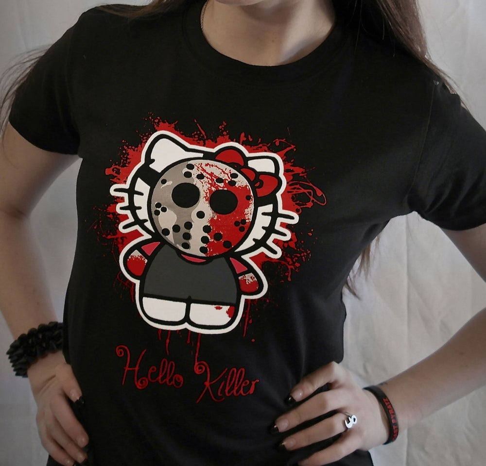 "Image of ""Hello Killer""-Black Ladies Tee"