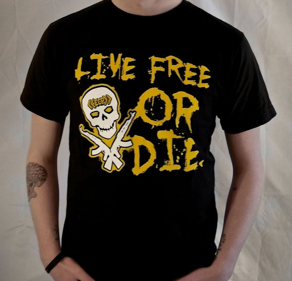"Image of ""Live Free Or Die""-Black Unisex Tee"