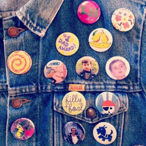 """Image of 1.5"""" Custom Made """"Madge Badge"""" Buttons"""