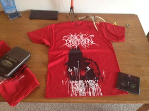 """Image of Stoic Dissention red """"Human' shirt"""