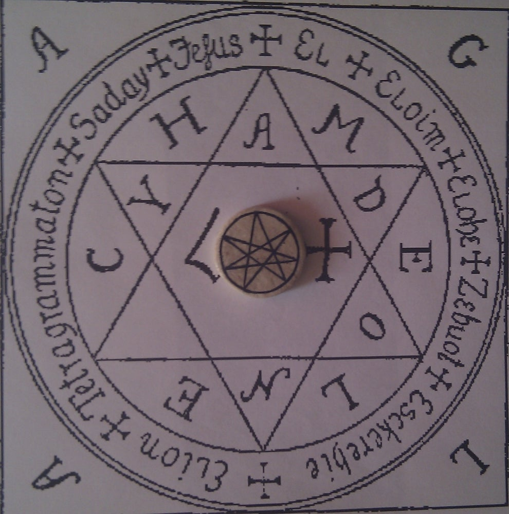 The Septagram talisman that brings good luck,balance and strenghtens magick