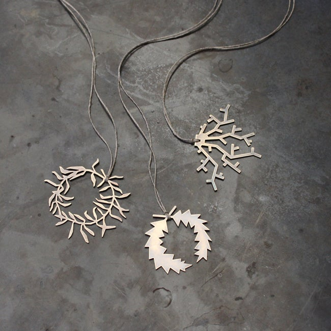 Image of Wreath + Coral Pendants