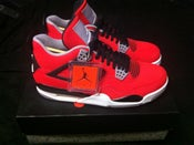 Image of NIKE Air Jordan 4 Retro IV Toro Bravo Fire Red New Deadstock Size 9.5 Lebron KD