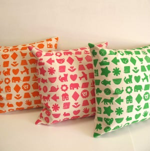 Image of Large Nursery Print Cushion