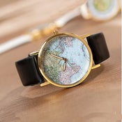 Image of World Map Wrist Watch / Mens Unisex Watch / Womens Watch (WAT0079)