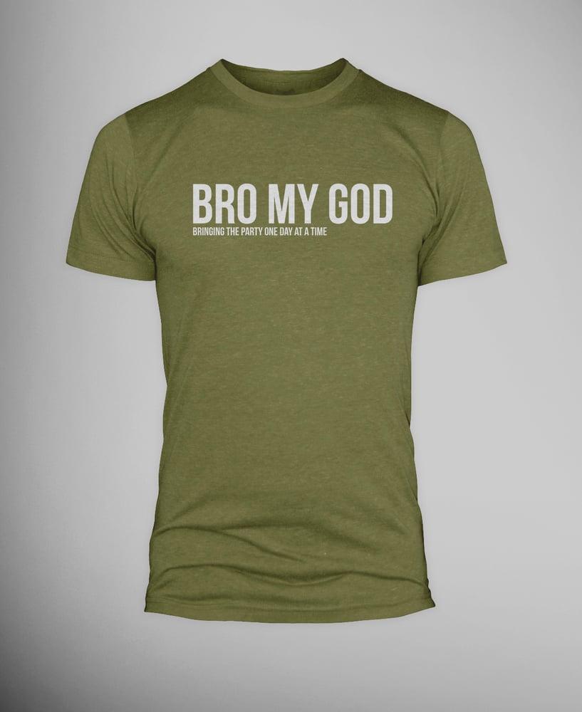 Image of Military Bro My God T-shirt