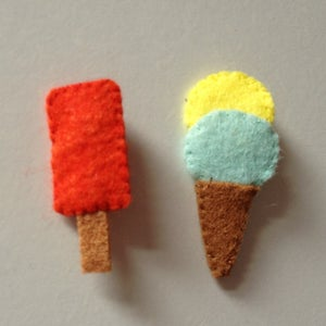 Image of Felt Ice Cream Badges