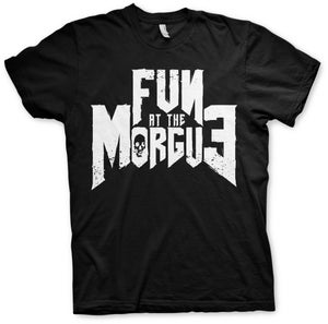 "Image of T-shirt Men/Girls ""Fun at the Morgue Logo"""