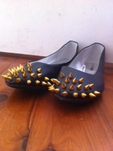 Image of Gold studded flats