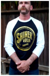 Image of SHINER GOLD MEN'S BASEBALL TEE