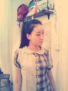 Image of 100% double gaze cotton short sleeves shirt / 二�棉拼布� code:135
