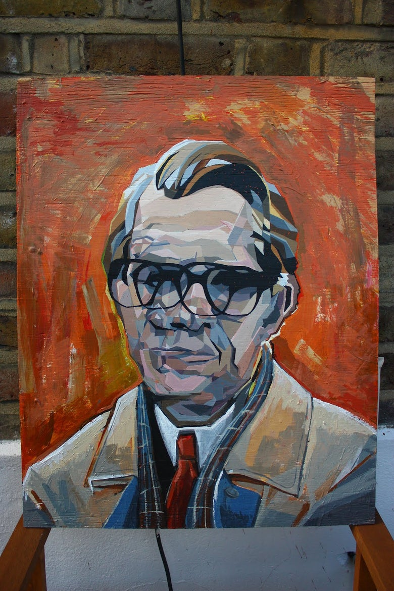 Image of Gary Oldman Painting