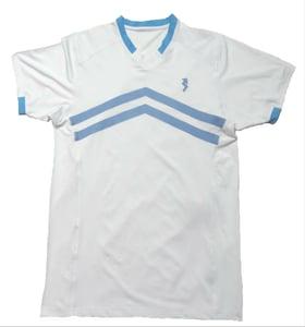 Image of white V-neck shirts