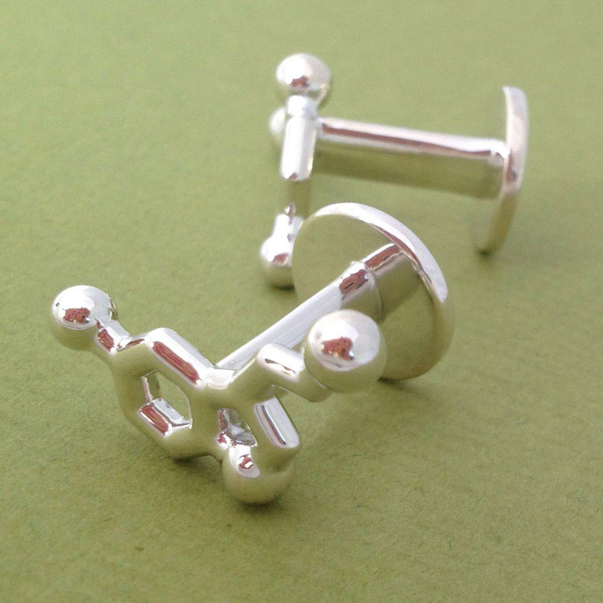 Image of serotonin cufflinks