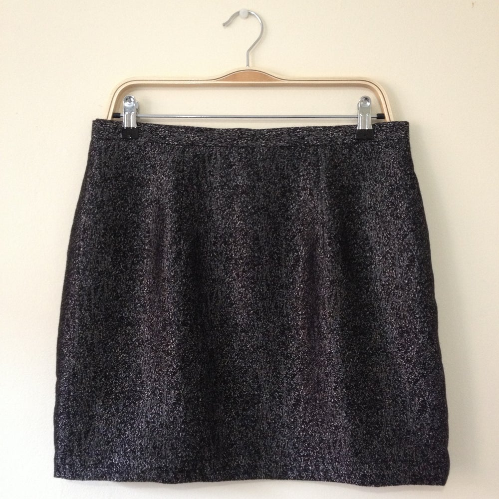 Image of 'Lula' mini skirt - Black and Silver