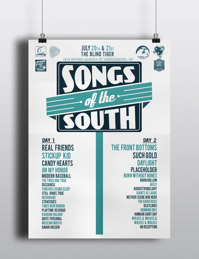 Image of Songs of the South Festival Poster
