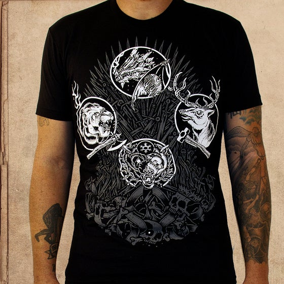 Image of Game of Thrones - iron throne - discharge inks - unisex