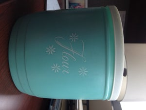 Image of Vintage Turquoise Kitchen Canisters