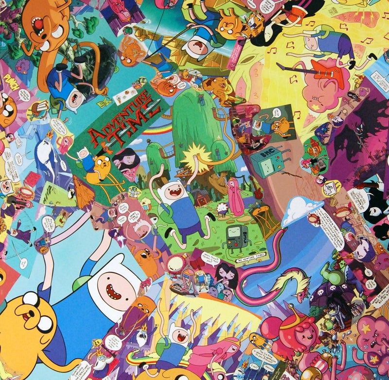 Image of Adventure Time with Finn and Jake Comic Collage Table
