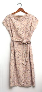 Image of Neutral Brushstrokes Silk Noil Dress