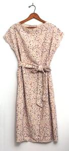 Image of Neutral Brushstrokes Silk Noil Dress