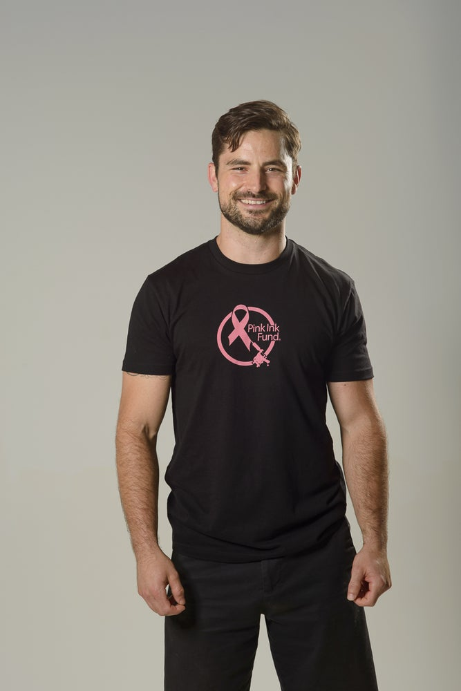 Image of Pink Ink Fund Logo Tee-unisex-ADULT-black-2 sided