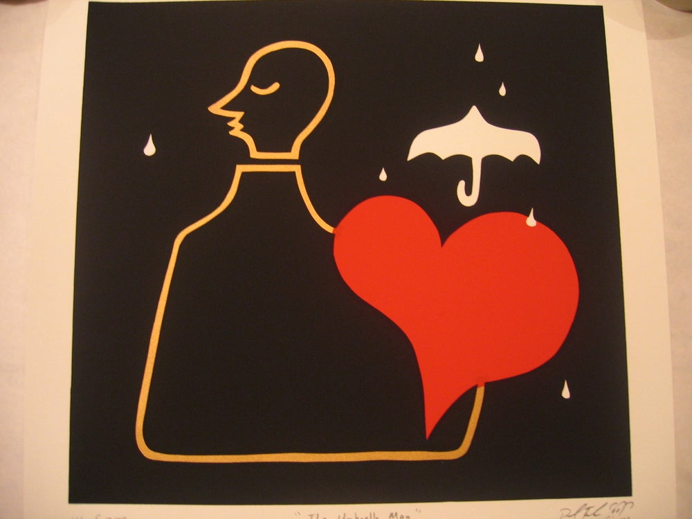 "Image of ""Umbrella Man"" RARE Unframed Print by Paul Frank"