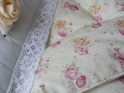 Image of Beautiful Sweet Briar Roses And Pink Dots~ Piped Edge!