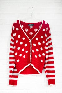 Image of 90's Vintage Stripe/Polka Dot Cardigan