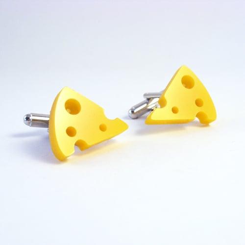Image of Cheese cufflinks