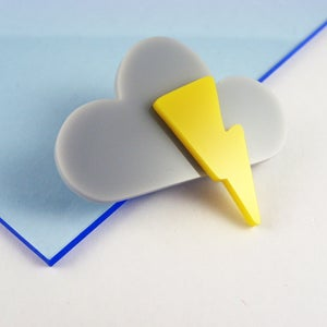 Image of Storm Cloud brooch