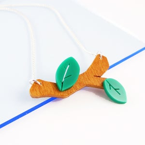 Image of Twig Necklace and Twig Brooch