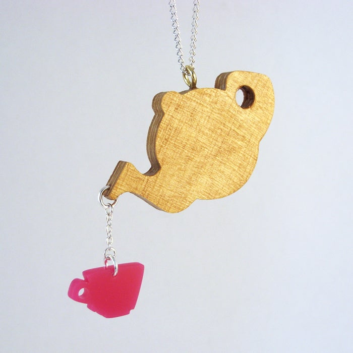 Image of Teapot & Cup necklace