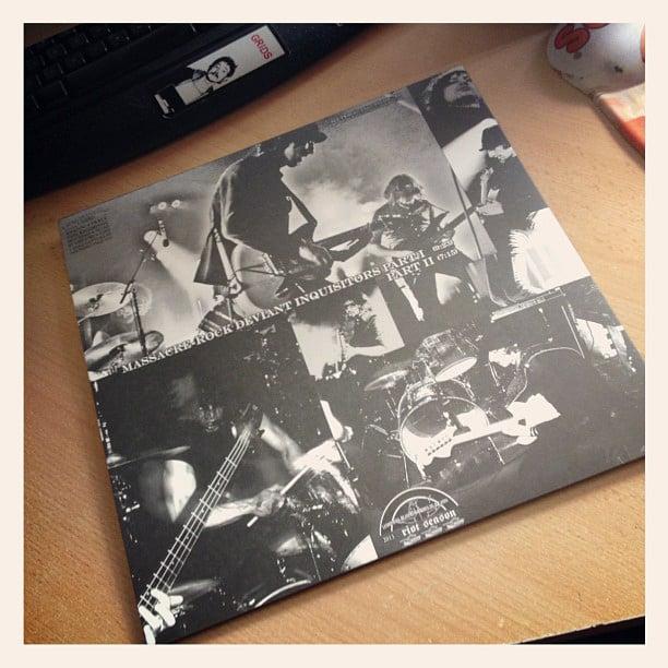 "GUNSLINGERS 'Massacre-Rock Deviant Inquisitors' White Vinyl 12"""