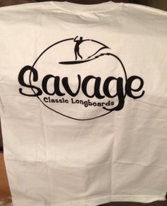 Image of Savage Surfboards Longboard T Shirt