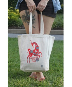 Image of 'TO MARKET' TOTE BAG - BY - Lesley Barnes